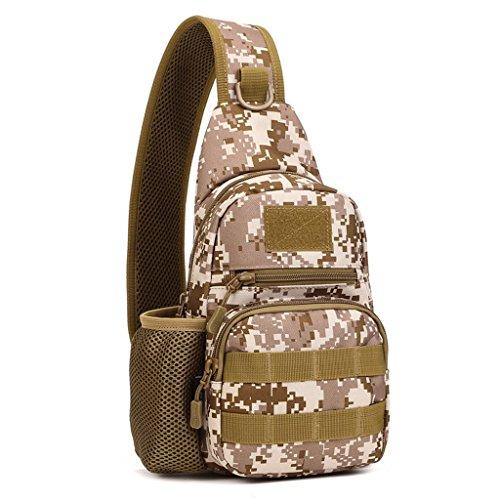 Generic Wasserdicht Brusttasche für Radfahren, Wandern, Camping, Trekking, Bergsteigen, Klettern Wüste-Tarnung