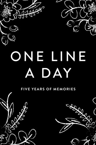 one-line-a-day-journal-five-years-of-memories-black-and-white-floral-6x9-diary-dated-and-lined-book