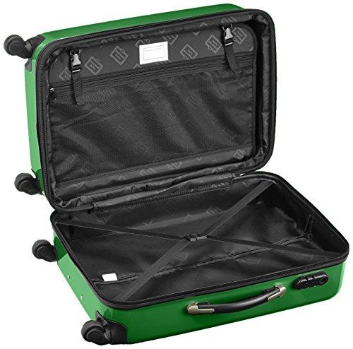 HAUPTSTADTKOFFER - Alex - 2er Koffer-Set Hartschale glänzend, 65 cm, 74 Liter, Graphit-Schwarz Grün