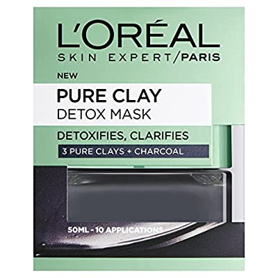 Dermo Expertise Pure Clay Detox Mask - 50 ml, Black