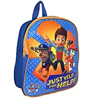 New Girls/Boys/Childrens Blue/Yellow Paw Patrol Zip Top Backpacks. - Blue/Yellow - UK SIZE 1
