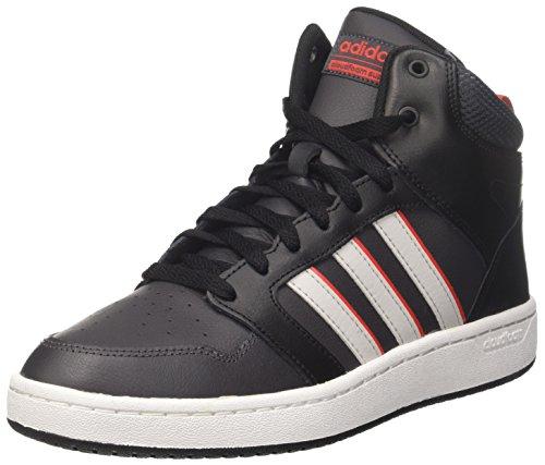 adidas Herren CF Super Hoops Mid Hohe Sneaker, Schwarz (Core Black/Grey One/Utility Black), 45 1/3 EU (Super-high-top-sneaker)