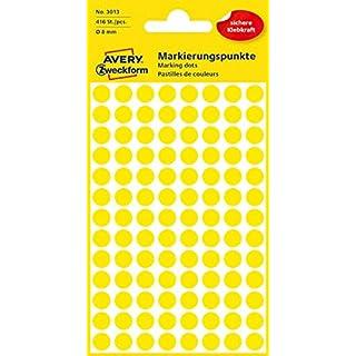 Avery Labels Yellow 8mm Dots Pk 520
