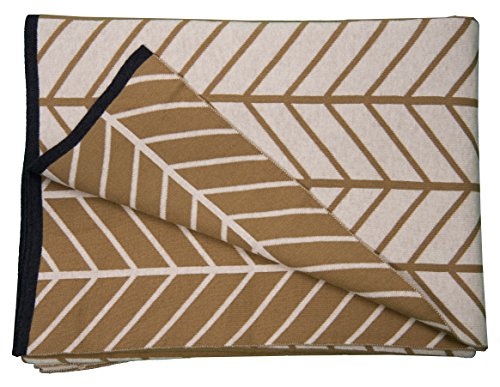 TOM TAILOR T-Smooth Plaid, Baumwolle, Camel, 130 x 180 x 1 cm
