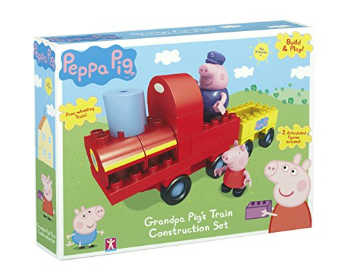 Peppa Pig - Build & Play - Tren abuelo Pig - Construction Set 1 Mini Figurita