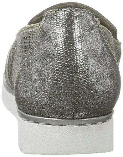 Rieker M1375, Mocassini Donna Multicolore (Grau-metallic/altsilber / 90)