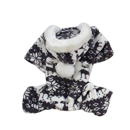 Quatre Pattes Manteau Vêtement à Capuchon Chaud d'hiver en Velours De Cerf S