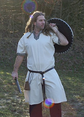 ika kurzarm, natur von Battle-Merchant - Mittelalter LARP Wikinger Größe XXXL (Kind Mittelalterlichen Ritter Kostüm)