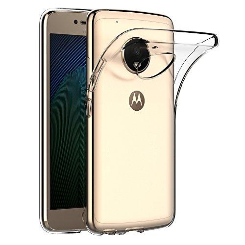Lenovo Moto G5 Plus Hülle, AICEK Transparent Silikon Schutzhülle für Moto G5 Plus Case Crystal Clear Durchsichtige TPU Bumper Motorola Moto G5 Plus Handyhülle