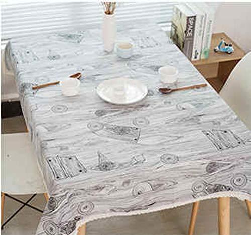 HOMEJYMADE Floraler Print Spitze tischdecke,Leinen Waschbar Falten frei und schmutzabweisend Tisch-Abdeckung Küche esszimmer Tisch Dekoration-D 140x200cm(55x79inch)