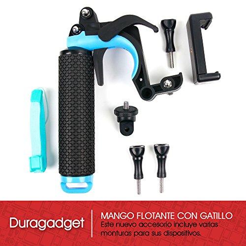 DURAGADGET-Soporte-Mango-flotante-con-gatillo-para-Cmara-Deportiva-Boblov-12MP-4K-HD-1080P-Sunglo-MGCOOL-ieGeek-IMBD-y-smartphones