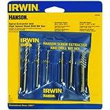 Irwin Industrial Tool 6 Piece Spiral Screw Extractor & Drill Bit Set 53700