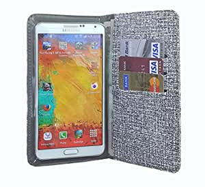 nKarta ™ Color Light Grey Jelly Wallet Pouch in Soft Inner Fiber Mobile Cover Case with Card holder Slots for Micromax Canvas Mega 4G Q417
