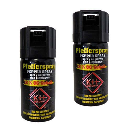 kh security Pfefferspray Extra stark 12{f9fc09e78653a91d5808127afe61b612c1e87825f7c9c7699e7d1959e0947409} OC, 2-er Pack, 80 ml, 130123set2