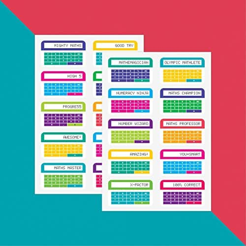 Maths Rewards Colourful Calculators x 20//Teacher Stickers