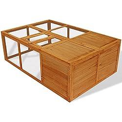 Jaula de madera plegable de exterior para animales