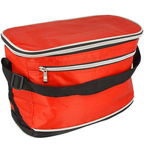 Premium Kühltasche isoliert 8 L oder 30 L Verschiedene Farben (Rot, 8 L)