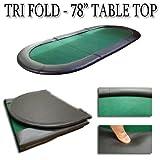 Casino Supplies Brybelly Holdings tab-0005verde 78cm x35en. Mesa de poker de tres pliegues Top