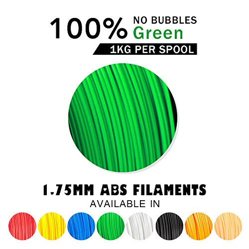 prezzo SUNLU ABS Filaments for 3D Printer-Green ABS Filament 1.75 mm,Low Odor Dimensional Accuracy +/- 0.02 mm 3D Printing Filament,2.2 LBS (1KG) Spool 3D Printer Filament for 3D Printers & 3D Pens,Green