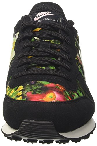 Nike W Internationalist Prm, Chaussures de Tennis Femme Noir (Black/summit White/prism Pink)