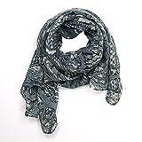 MANUMAR Schal Kunst Zweige Geflecht Damenschal Tuch Scarf grau beige! Weicher Schal als edles Accessoire! Weihnachtsgeschenk Freundin Damen