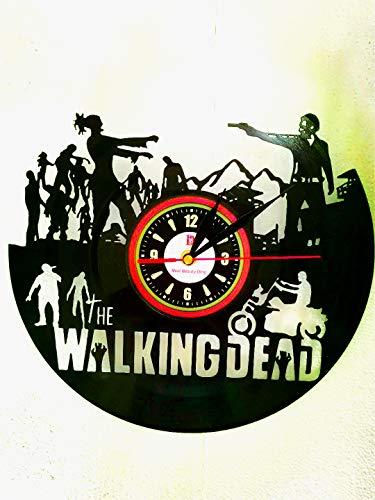 Meet Beauty Ding Walking Dead Schallplatte Wanduhr Exklusive Hängende Zeit Uhr Spezielle Stille Quarz Bewegung 30cm Schwarz Runde
