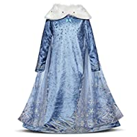 Pretty Princess Girls Fancy Dress Kids Halloween Costumes Princess Dress up Party Outfit 3-10 Years (5-6 Years)
