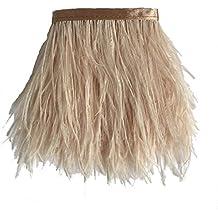 Sowder avestruz plumas bordes adornados con cinta de satén cinta para manualidades de costura para vestidos