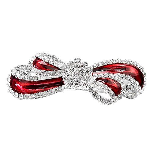 1 x Moda Mujeres Niñas Rhinestone Arco Bowknot Horquilla Pelo Clip Pinza DIY Accesorios