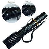 Zoombar Taschenlampe XML-T6 LED Flashlight Taschen-lampe Zoom 18650 Batterien Ladegerät
