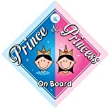 Prince & Princess On Board Car Sign, (1), Prince On Board, Princess On Board, Prince Boy, Princess Girl, Car Sign, Baby On Board Sign, Baby on board, Novelty Car Sign, Baby Car Sign (744)