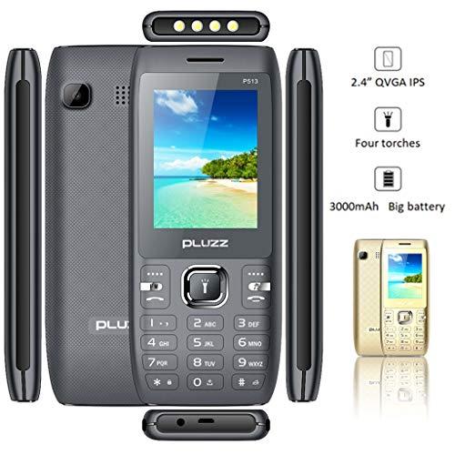 Altsommer Seniorenhandys,2,4 Zoll Bildschirm mit Dual-SIM,Großen Tasten,Bluetooth,FM Radio, Großer Lautsprecher,Notruf-Knopf und Taschenlampe Mobiltelefon,4 Sprachen Handy (Gold)