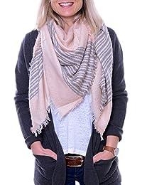 Miriam - sehr großes quadratisches XL Tuch / Schal für Damen mit schönem Muster