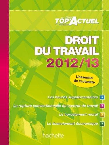TOP'Actuel Droit du travail 2012-2013