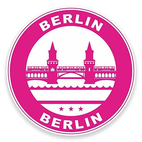 2 x Berlin Deutschland Fenster kleben Aufkleber Auto Van Wohnmobil Glas #9313