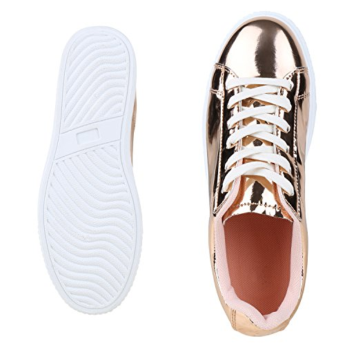 best-boots - Pantofole Donna Rose Gold Metallic Nuovo