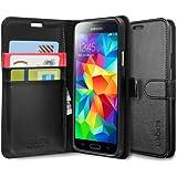 Spigen Schutzhülle Samsung Galaxy S5 Hülle Wallet S Black SGP10818