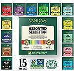 VAHDAM, los mejores surtidos de té 15 diferentes surtidos de bolsas de té de muestras paquete de regalo Paquete de...