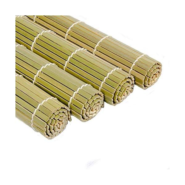 AYRSJCL Rodillo Herramienta Sushi 1pc de bambú del balanceo Mat Onigiri Rice Rodillo del Pollo de la Mano del Fabricante… 2