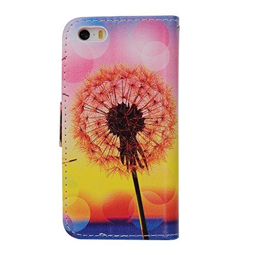 MOONCASE Étui pour Apple iPhone 5C Printing Series Coque en Cuir Portefeuille Housse de Protection à rabat Case Cover ZD11 ZD07 #1230