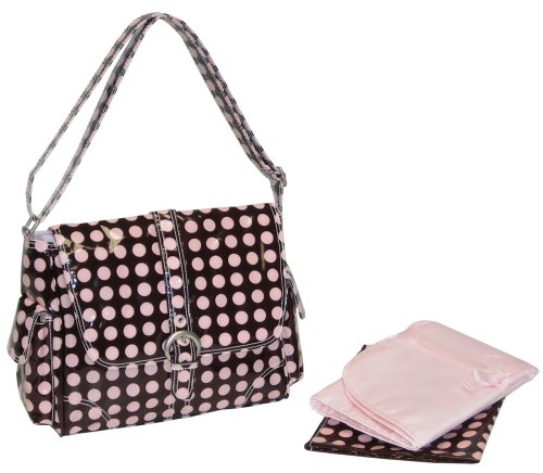 kalencom-new-orleans-sac-bandouliere-pour-femme-heavenly-dots-chocolate-pink