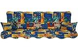 Polsterauflage Hollywoodschaukel 180x50 Modell 260 patchwork blau