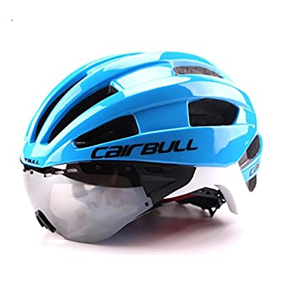 Cairbull Men/Women Bike Helmets CE Certified Adjustable Cycle Bicycle Helmet With Goggles Visor Shield send Storage backpack from Cairbull