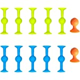 12/24 Pcs Sucker Toys Pop Darts - Silicone Target Marker and Darts Funny Toy Set, Rubber Family Interactive Toy…
