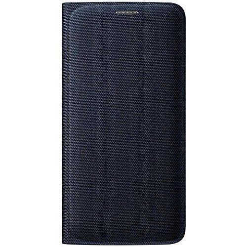 Galleria fotografica Samsung Custodia Flip Wallet in Tessuto per Galaxy S6 edge, Nero