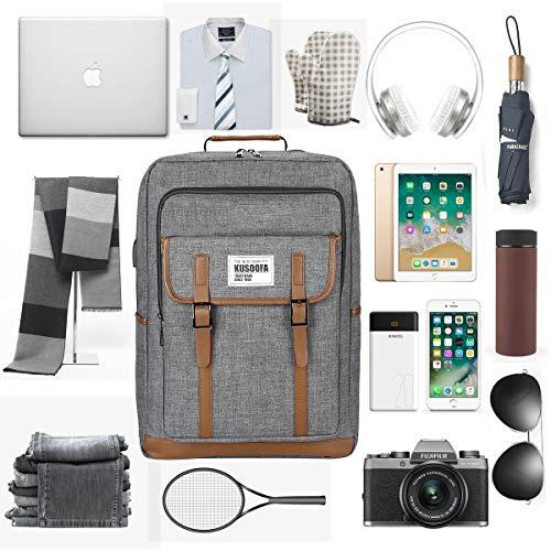 14b503afce ... 17.3 Pollici Laptop Zaino Computer con Porta USB e Cuffie Jack Per  Università Business Viaggio (Grigio). Visualizza le immagini