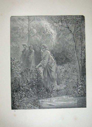 Il Paradiso 1870 di Dante della Galleria di Dore Inclina i Fiori degli Alberi - Paradise Gallerie