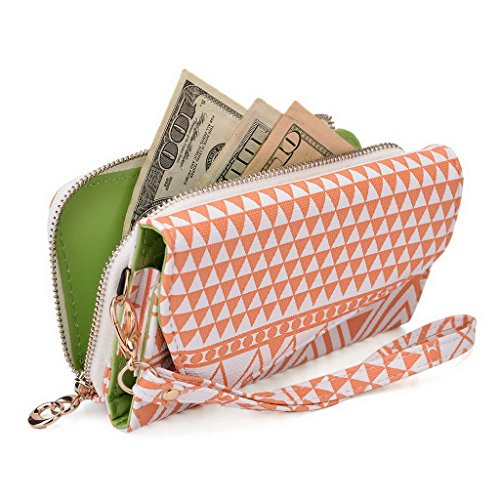 Kroo Pochette/étui style tribal urbain pour Lava Iris 350 m/352 Flair Multicolore - White and Orange Multicolore - White and Orange