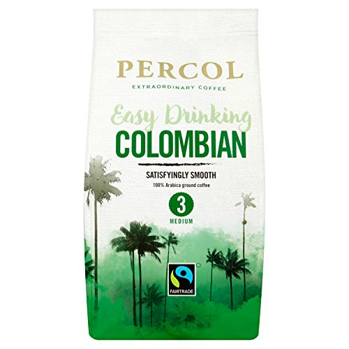 PERCOL Fairtrade Smooth Colombia Ground Coffee 200g 511JY5o4bWL
