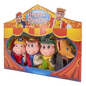 Théâtre de marionnettes – 4 marionnettes – Les 3 petits cochons
